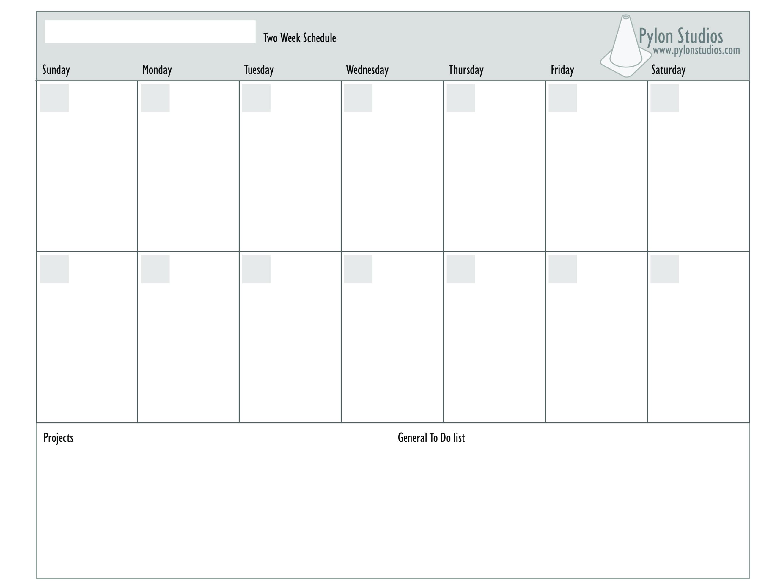 2 Week Calendar  How To Create A 2 Week Calendar? Download in 2 Week Blank Calendar