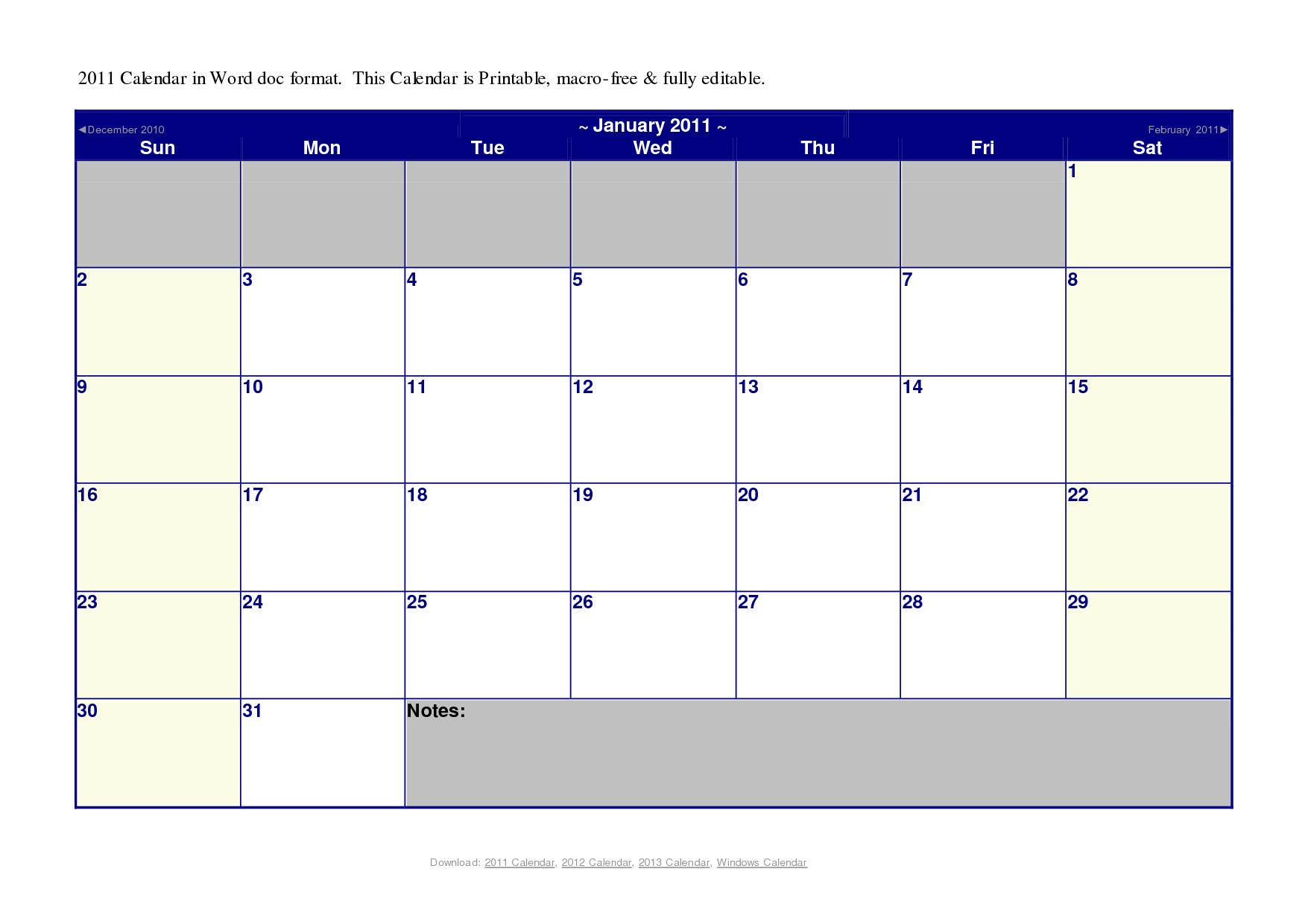 20 Microsoft Blank Calendar Template Images  Microsoft Word with regard to Microsoft Word Templates Calendar