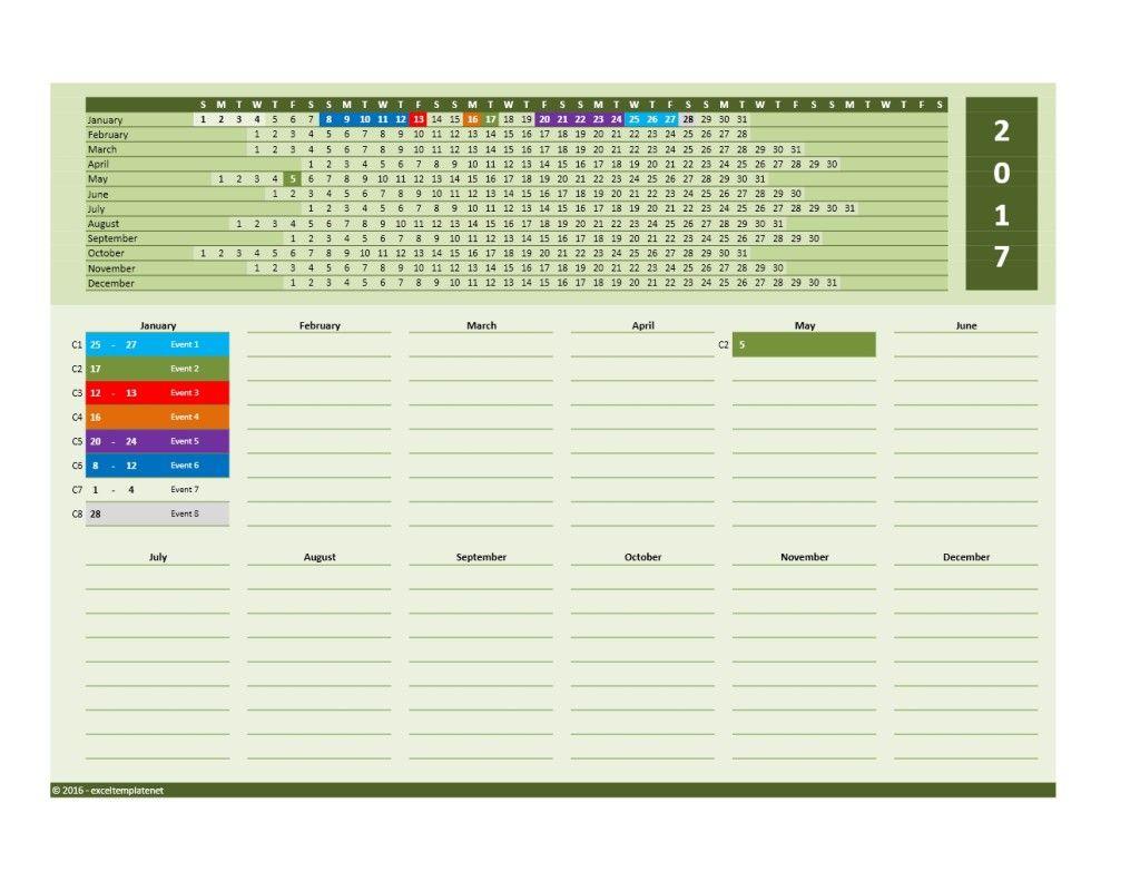 2019 Yearly Calendar Template » Exceltemplate throughout Linear Calendar Template