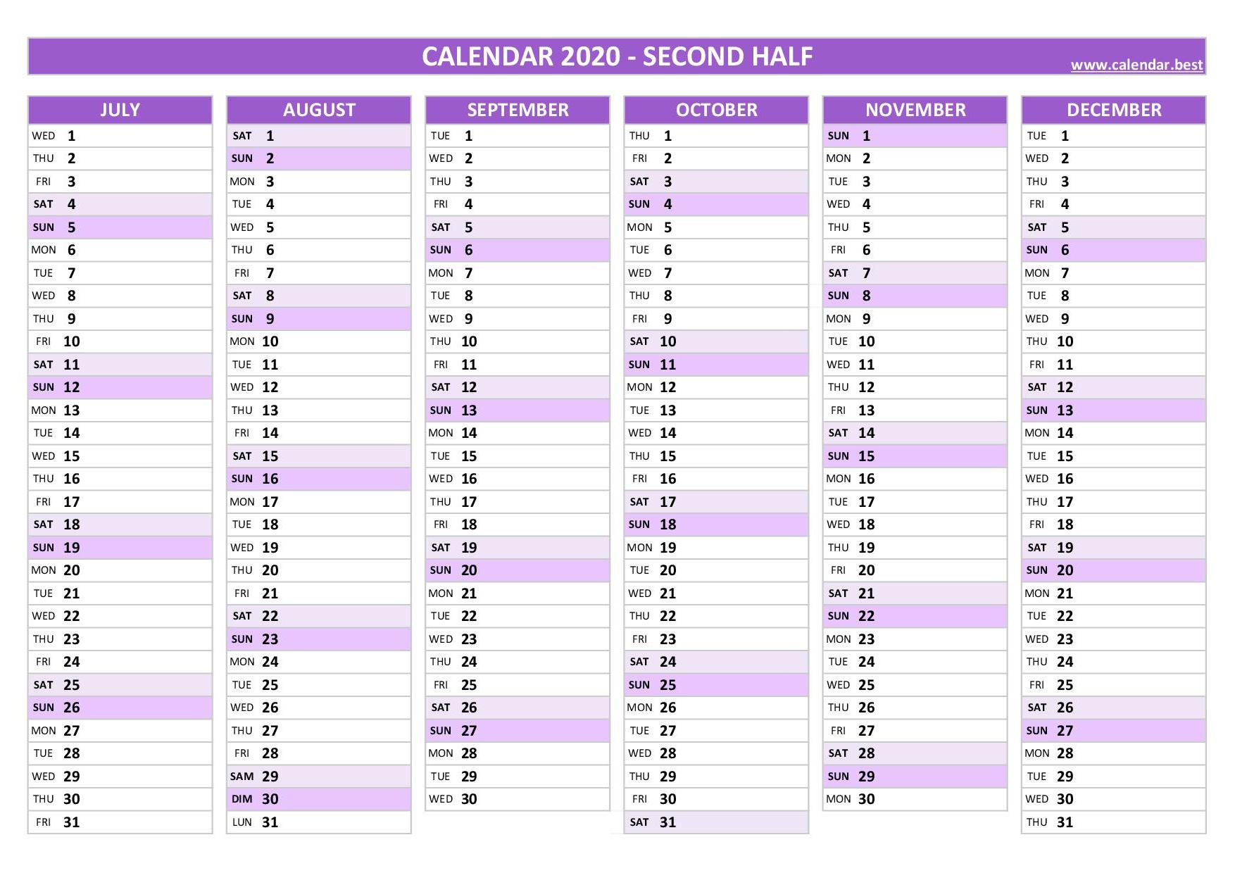 2020 Calendar  Calendar.best intended for Calendars With Time Slots