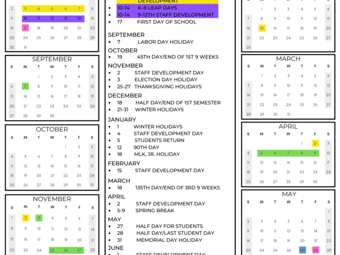 20202021 Calendar pertaining to Spartanburg School District 3 Calendar