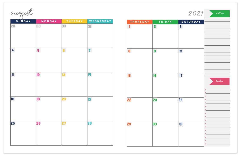 20202021 Monthly Calendar Planner | Free Printable Calendar for Free Printable Monthly Calendar With Lines