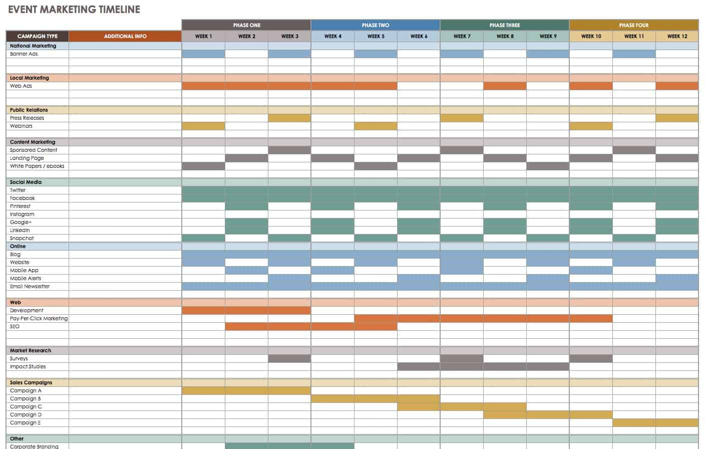 21 Free Event Planning Templates | Smartsheet for Conference Planning Worksheet