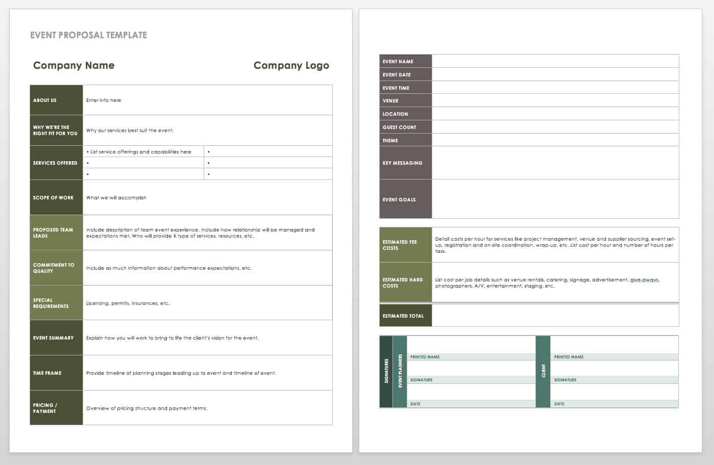 21 Free Event Planning Templates | Smartsheet for Corporate Event Planning Checklist Template