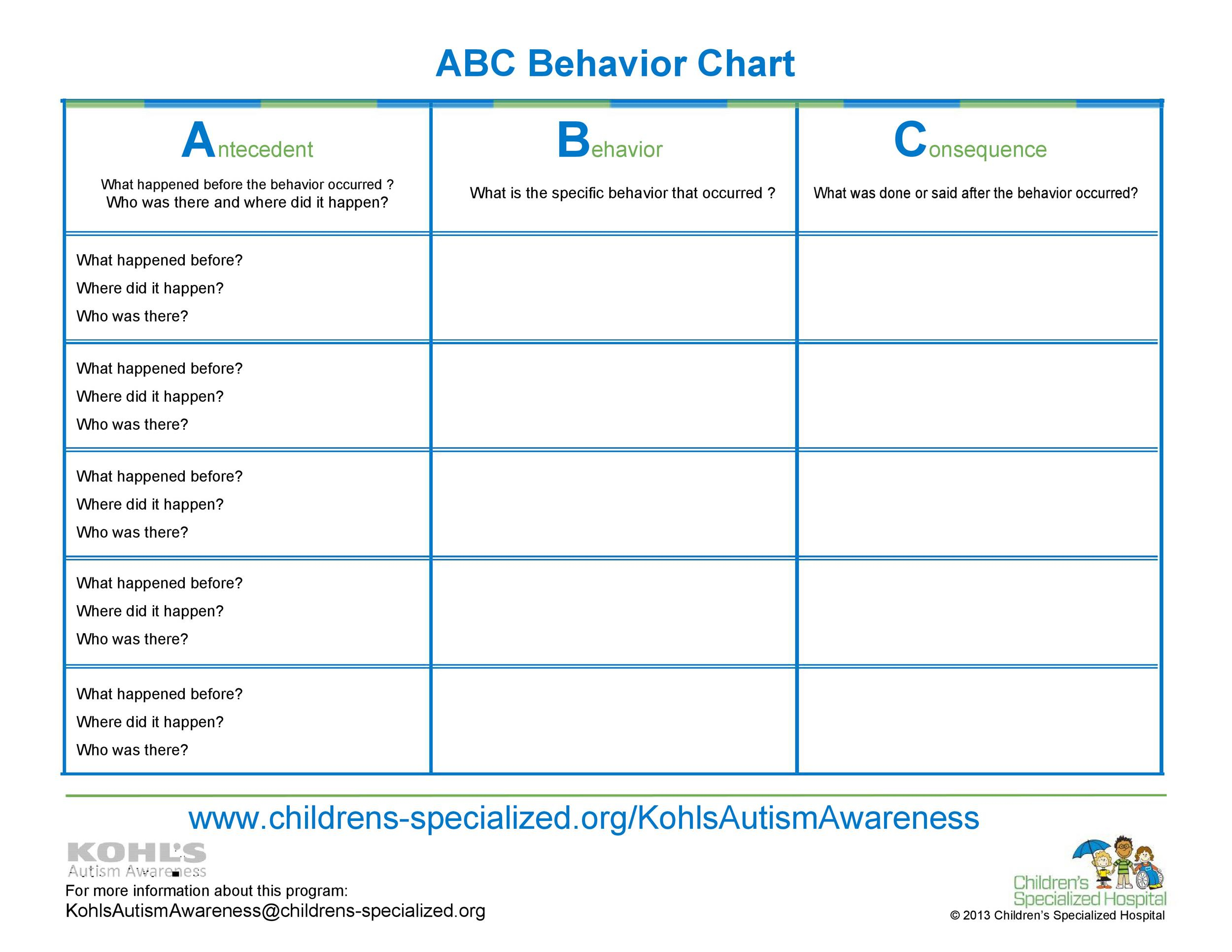 42 Printable Behavior Chart Templates [For Kids] ᐅ Templatelab in Monthly Behavior Chart