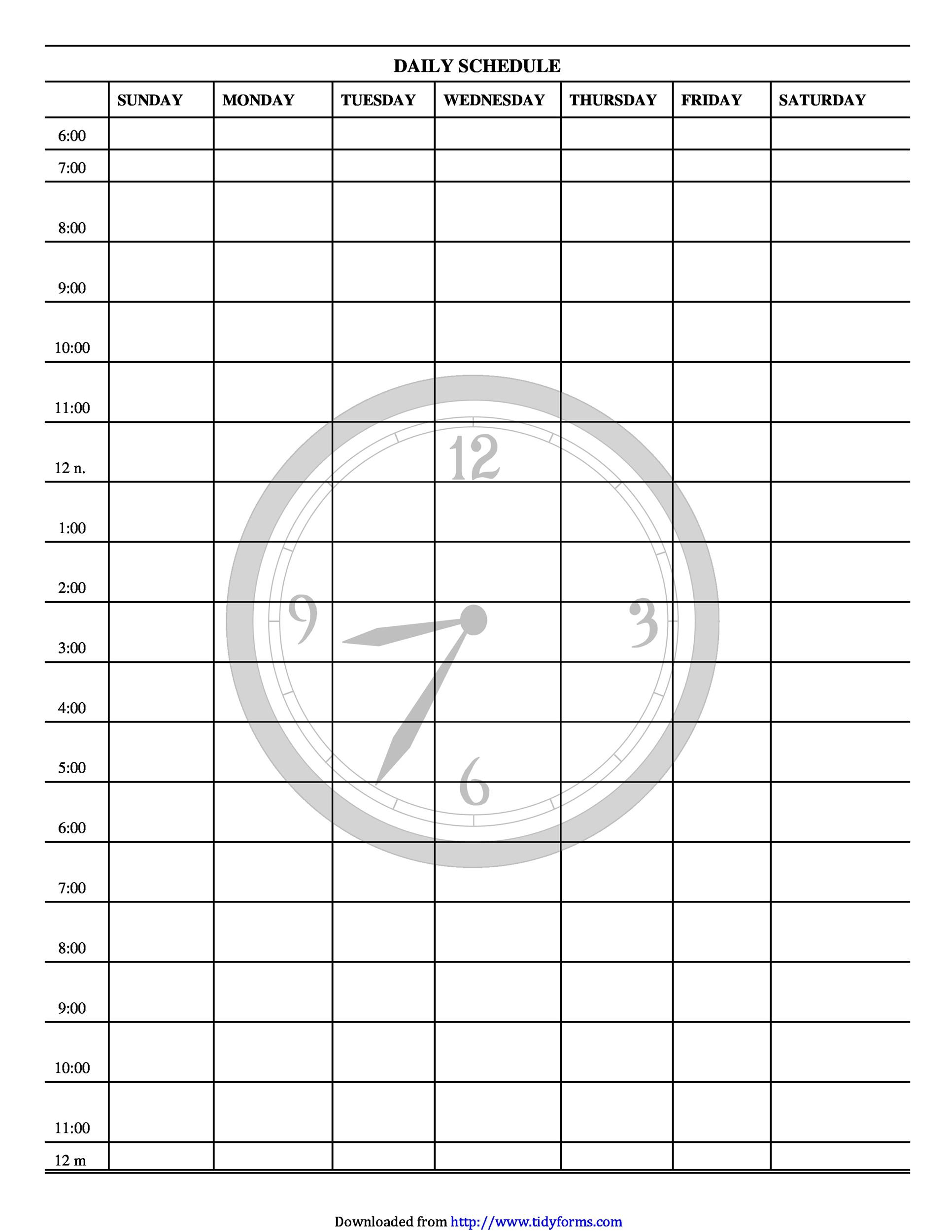 47 Printable Daily Planner Templates (Free In Wordexcelpdf) pertaining to 24 Hour Daily Planner Printable