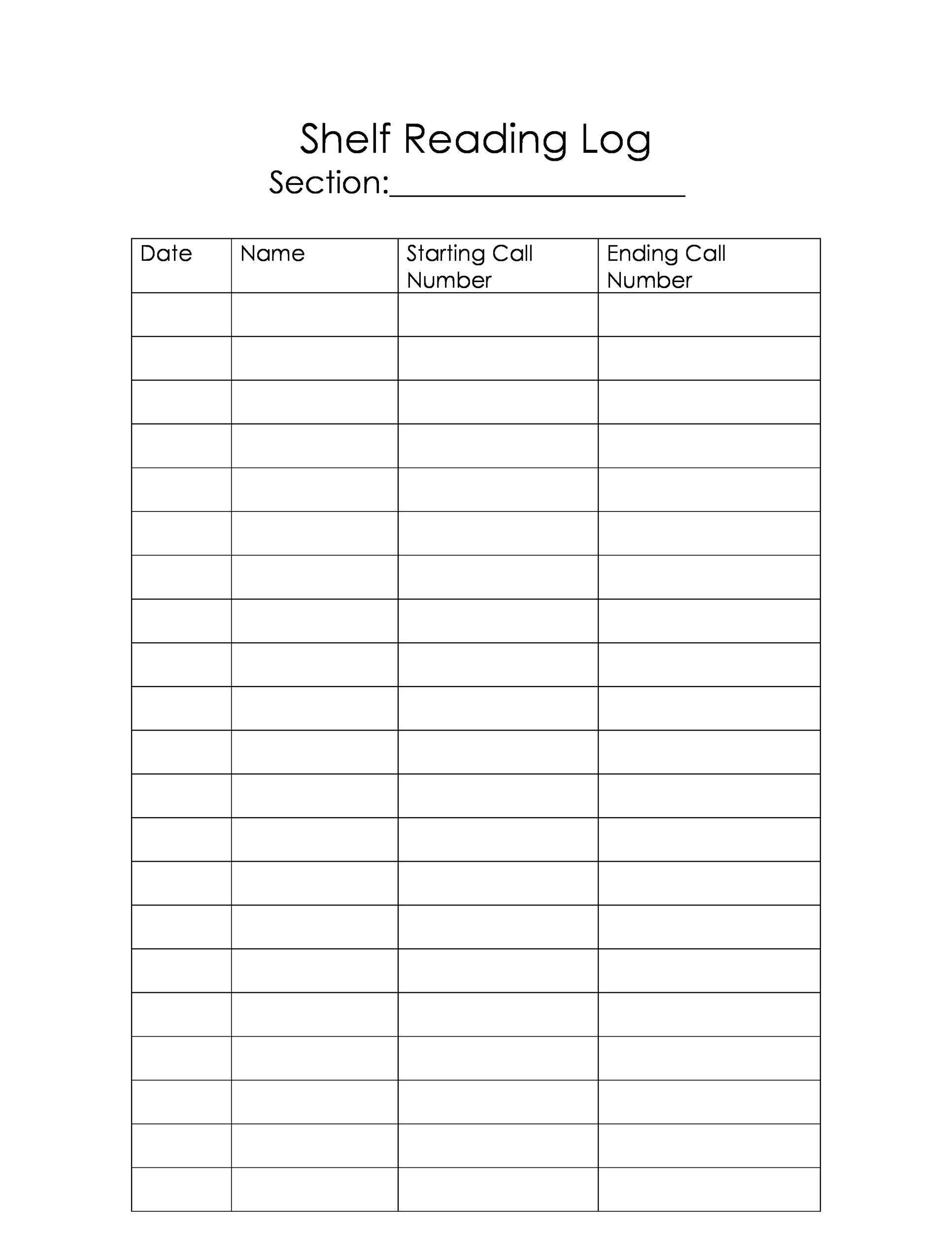 47 Printable Reading Log Templates For Kids, Middle School regarding Middle School Reading Log Template