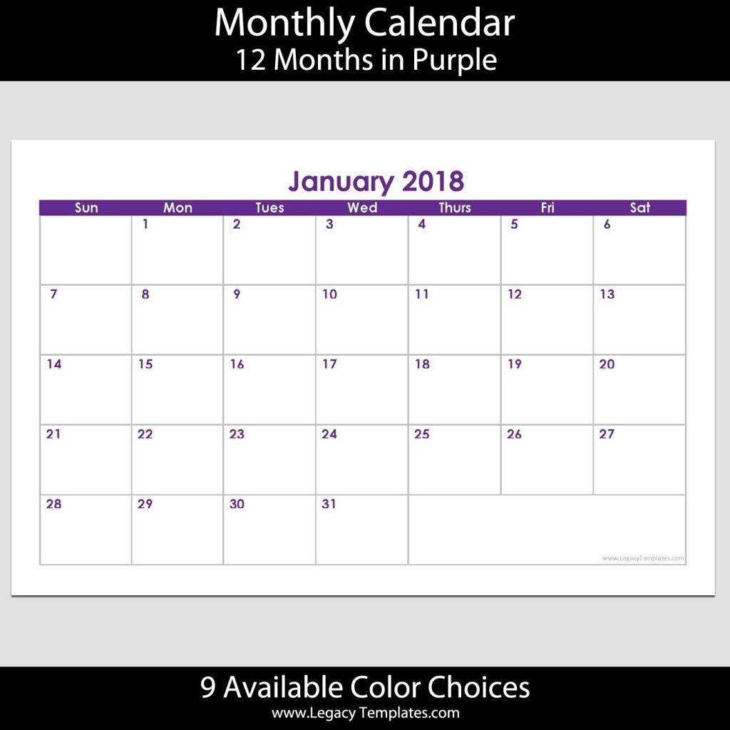 5.5 X 8.5 Calendar Template In 2020 | Calendar Template for 5.5 X 8.5 Calendar Template