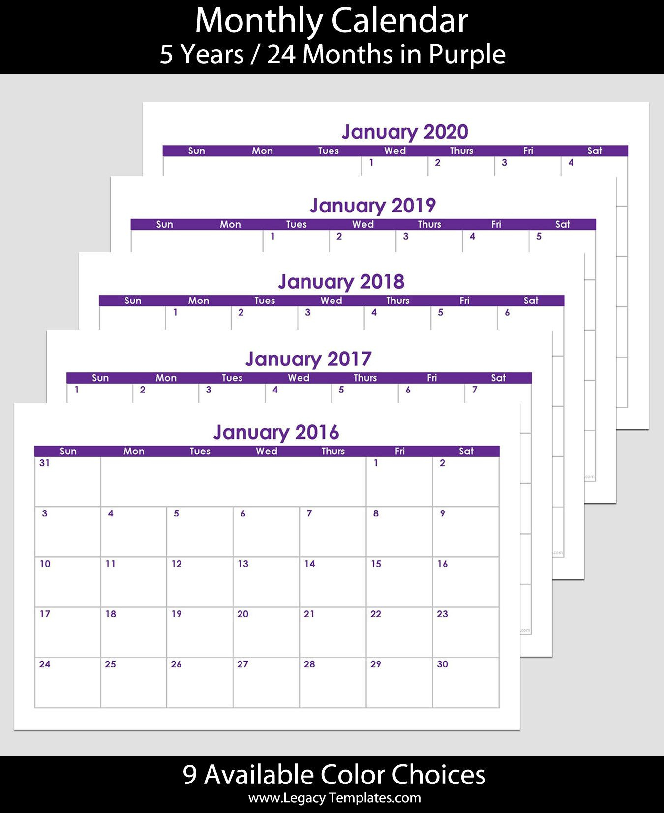 5.5 X 8.5 Planner Template Inspirational 2016 To 2020 60 with 5.5 X 8.5 Calendar Template