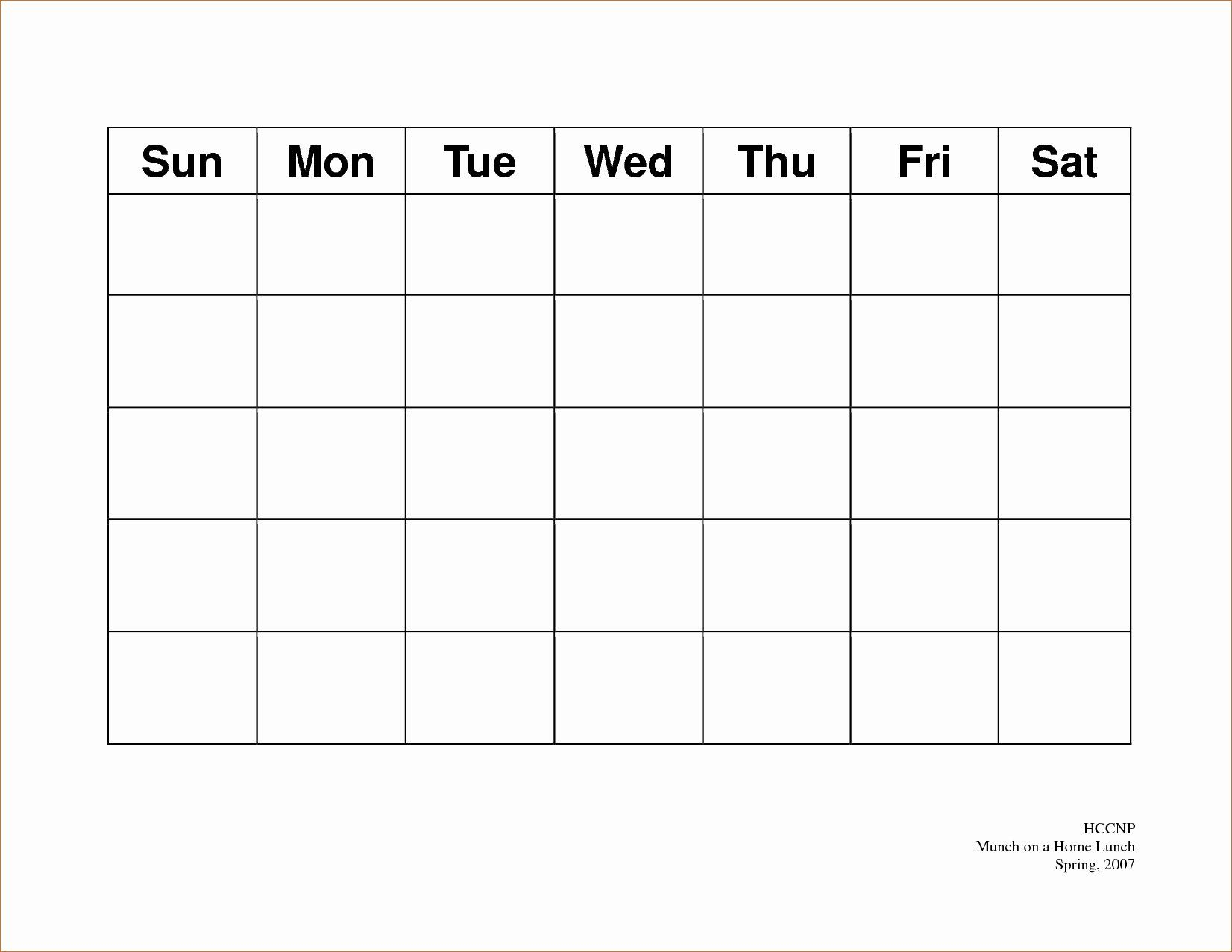 5 Day Schedule Template Elegant Free Printable 5 Day Monthly throughout Free Printable 5 Day Monthly Calendar