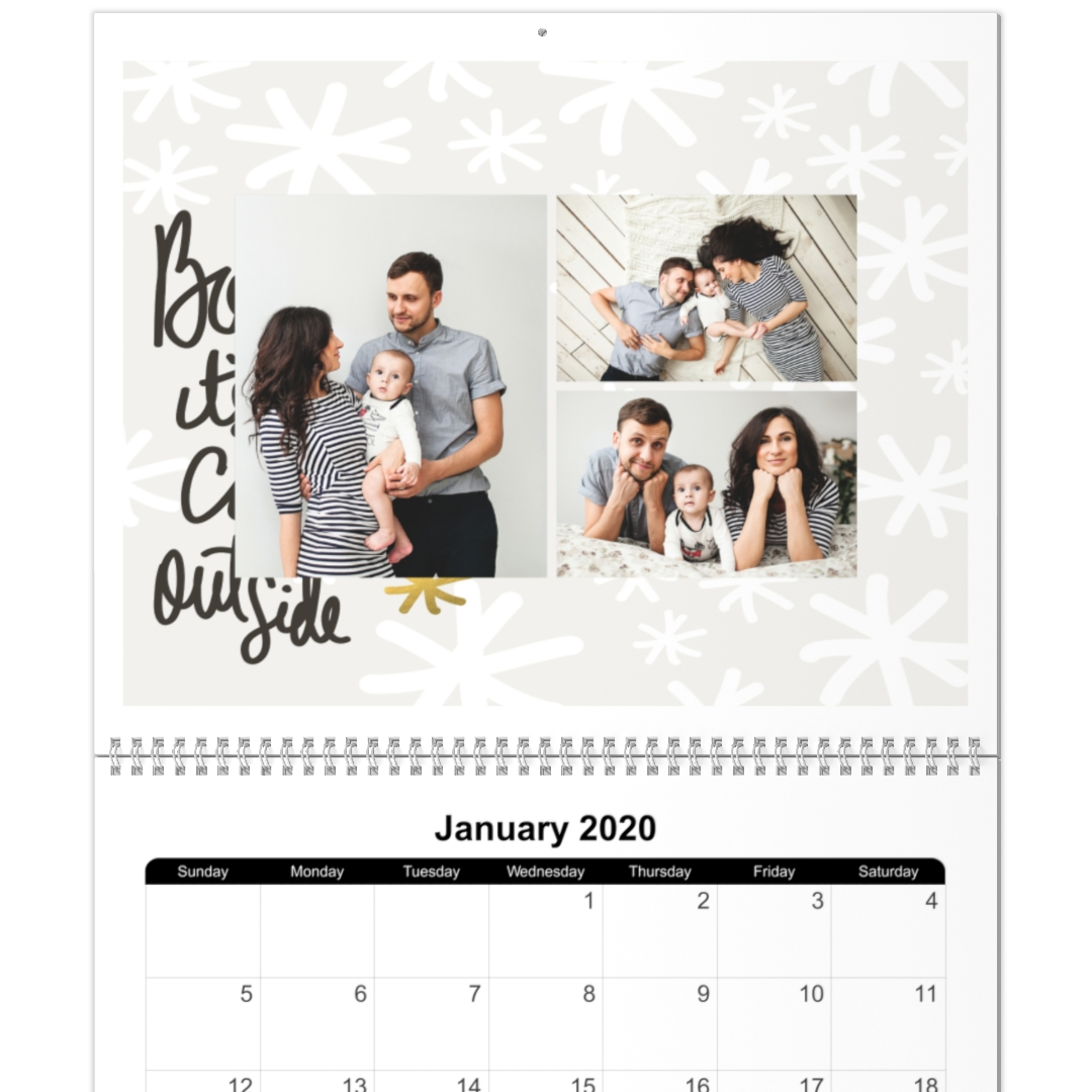 8X11, 12 Month Photo Calendar pertaining to At A Glance Wall Calendar Holder