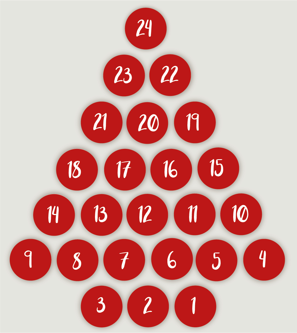 Advent Calendar Stickers Red throughout Holiday Stickers For Calendars