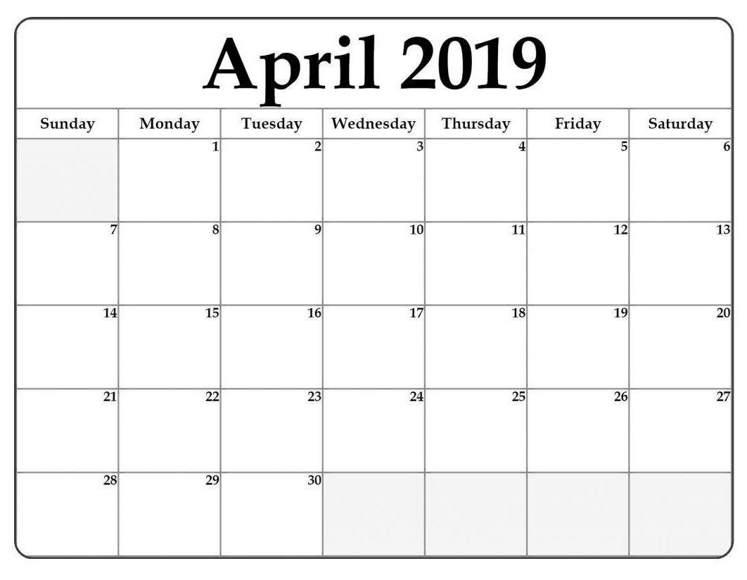 April 2019 Word Calendar Template | Calendar Template inside Microsoft Word Templates Calendar