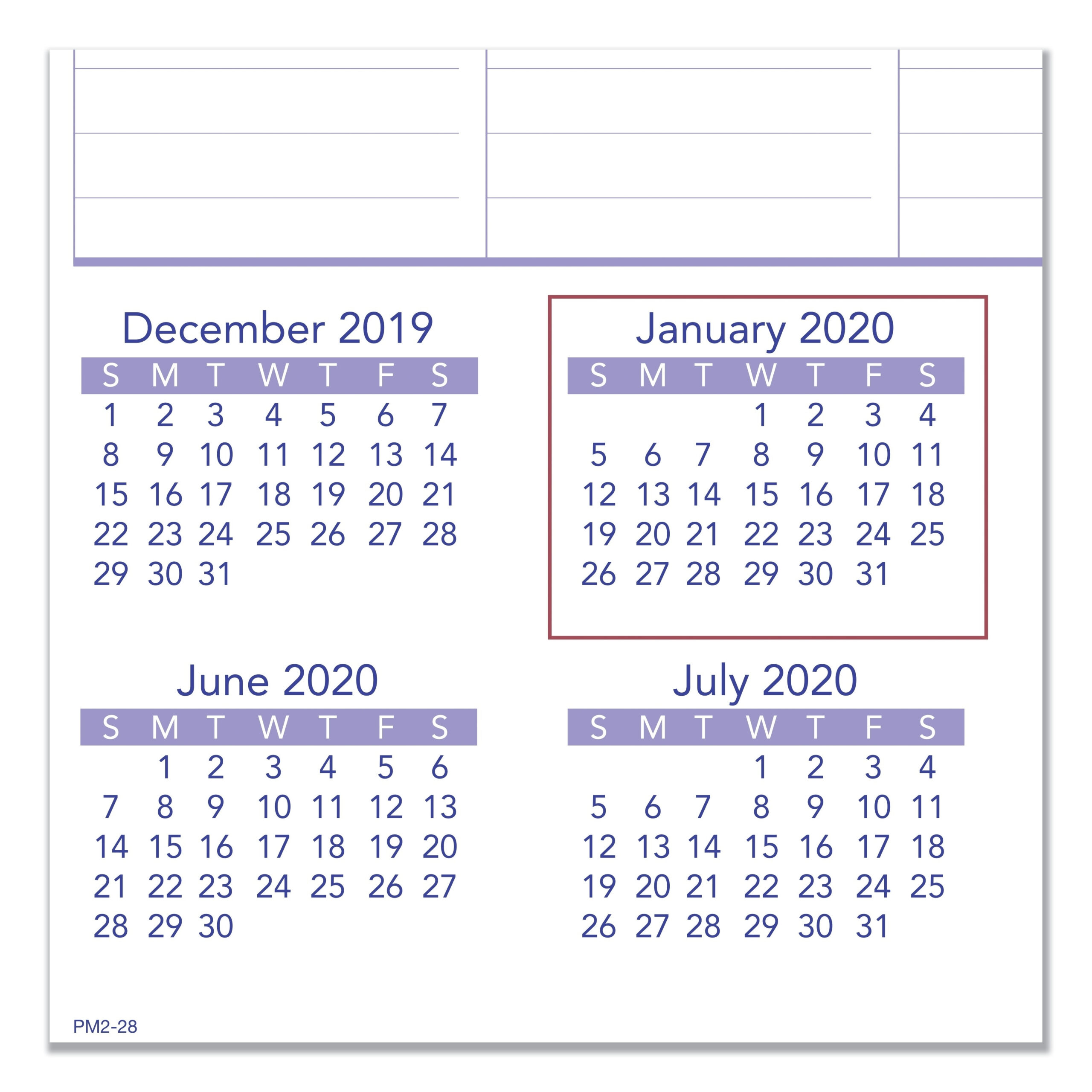 "At A Glance Pm428 Ataglance Wall Calendar With Hanger  Monthly  20"" X  30""  January Till December  1 Month Per 1 Page[S]  Chipboard Back in At A Glance Wall Calendar Holder"