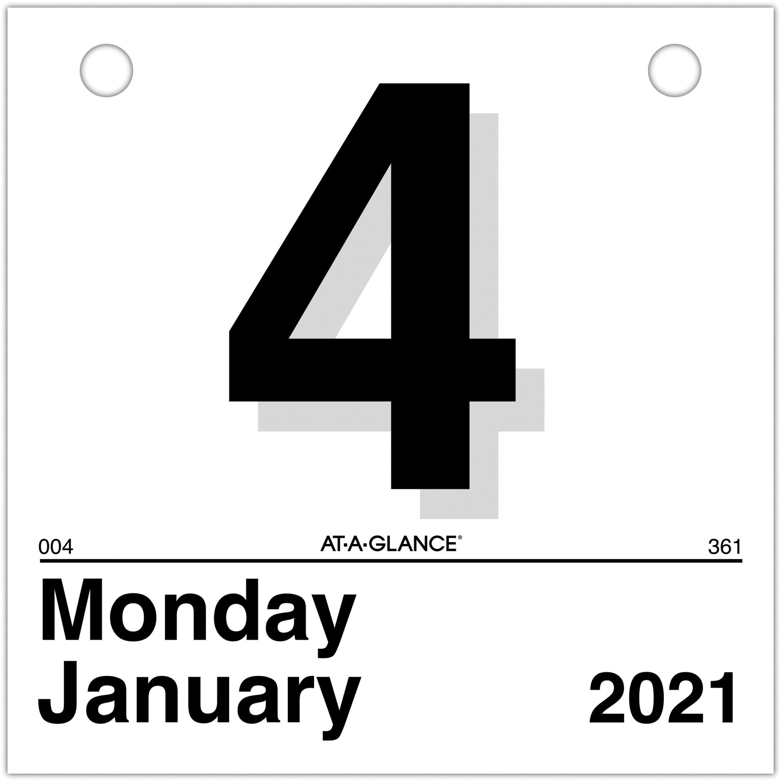 "Ataglance ""Today Is"" Daily Wall Calendar Refill intended for At A Glance Wall Calendar Holder"