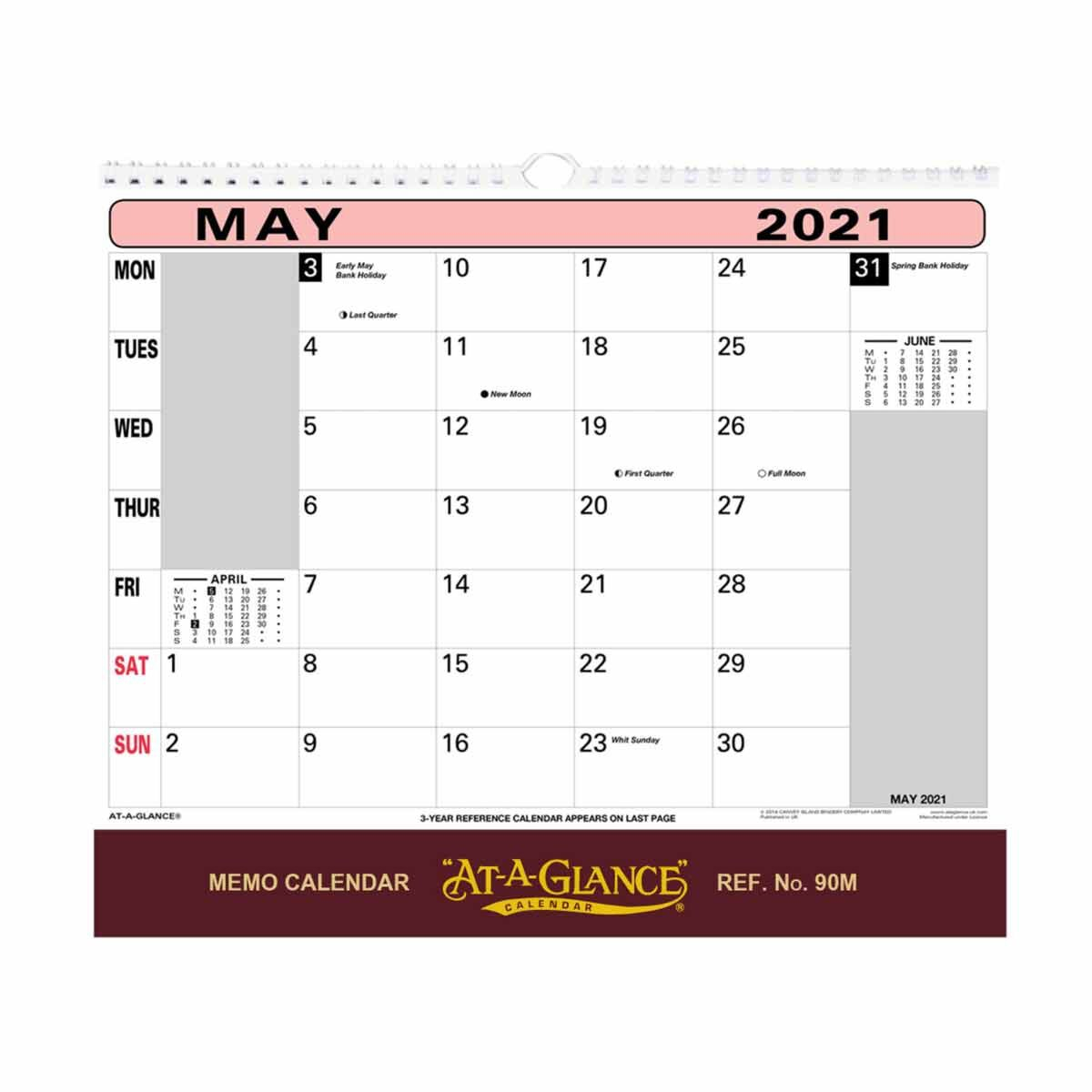Ataglance Wall Flip Calendar 2021 for At A Glance Wall Calendar Holder