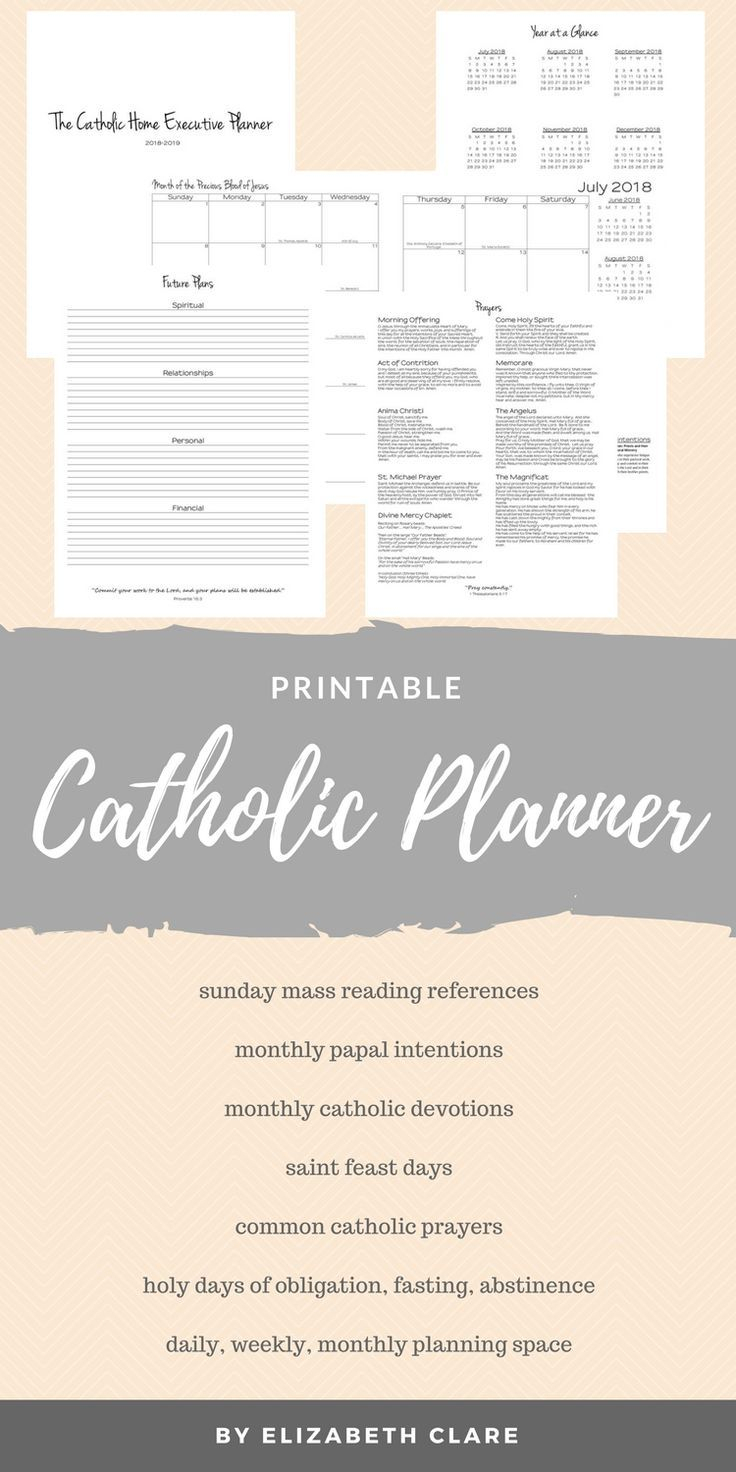 Awesome Printable Catholic Planner! Just What I'Ve Been within Catholic Daily Planner