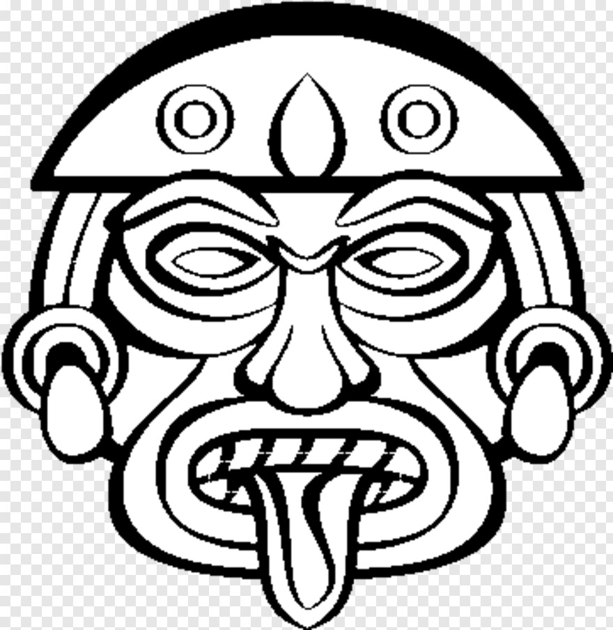 Aztec  Aztec Masks Easy To Draw, Png Download  600X470 regarding Aztec Mask Template