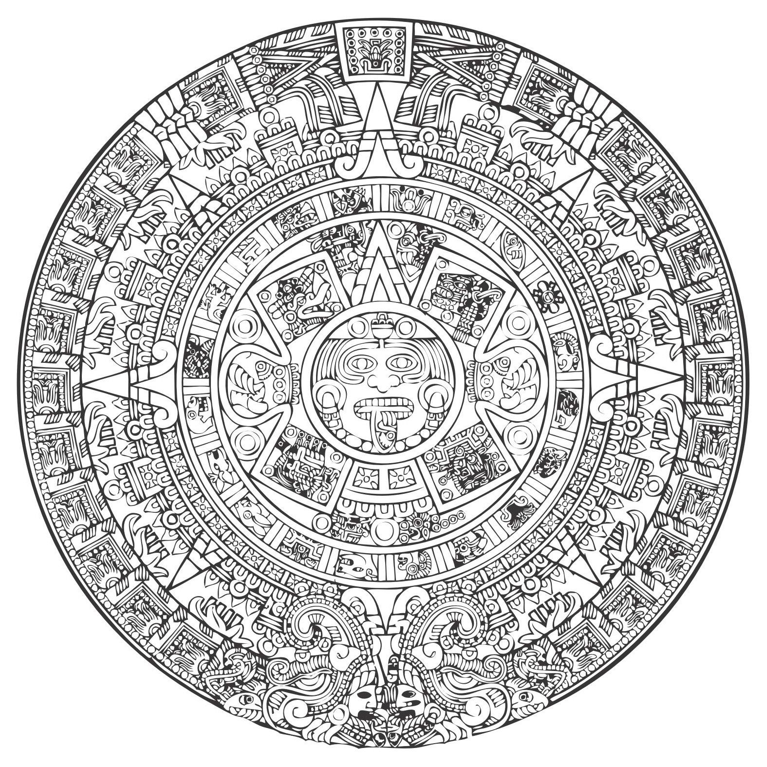 Aztec Calendar Vector [Eps File] Vector Eps Free Download with Aztec Calendar Template