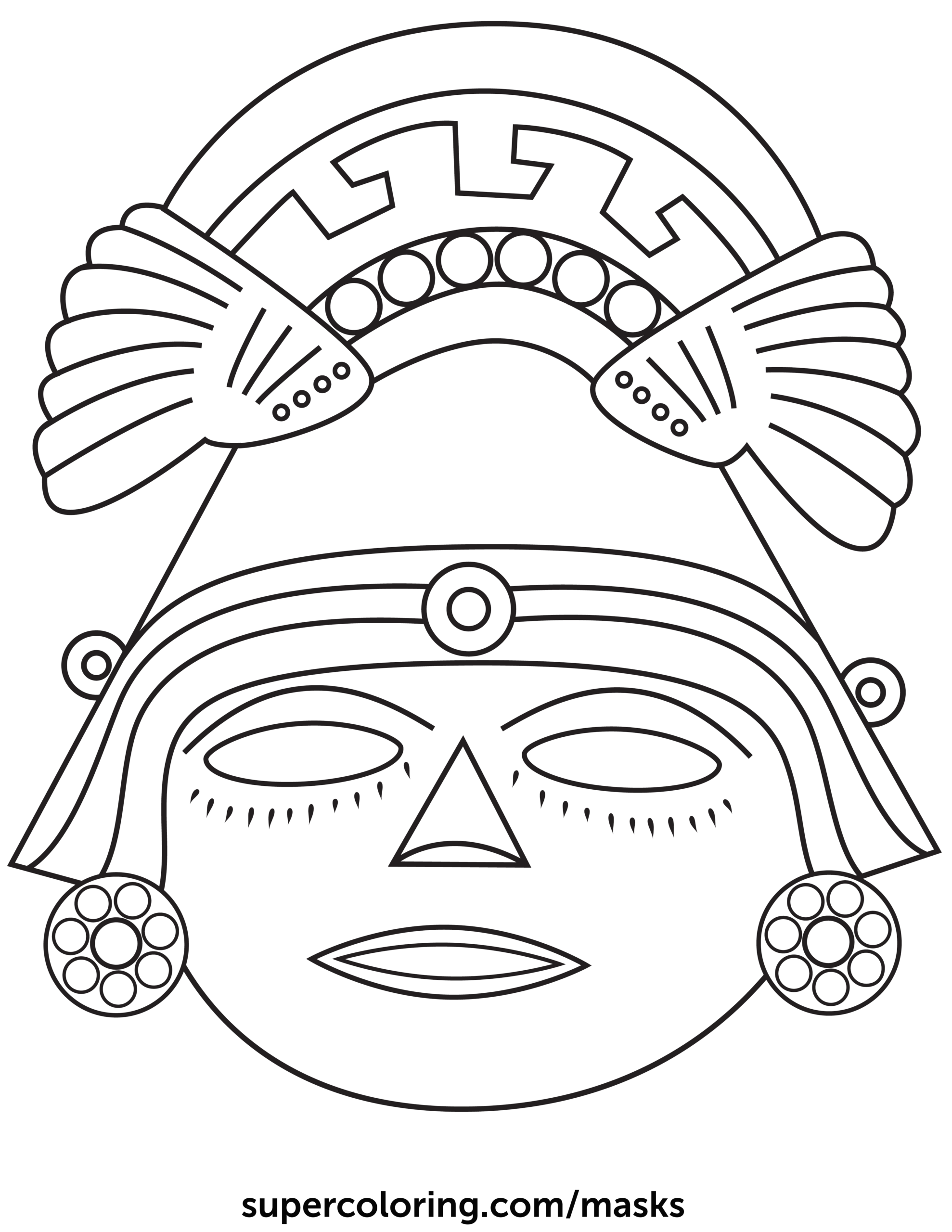Aztec № 1 In 2020 | Aztec Mask, Aztec Art, Mayan Mask pertaining to Aztec Mask Template