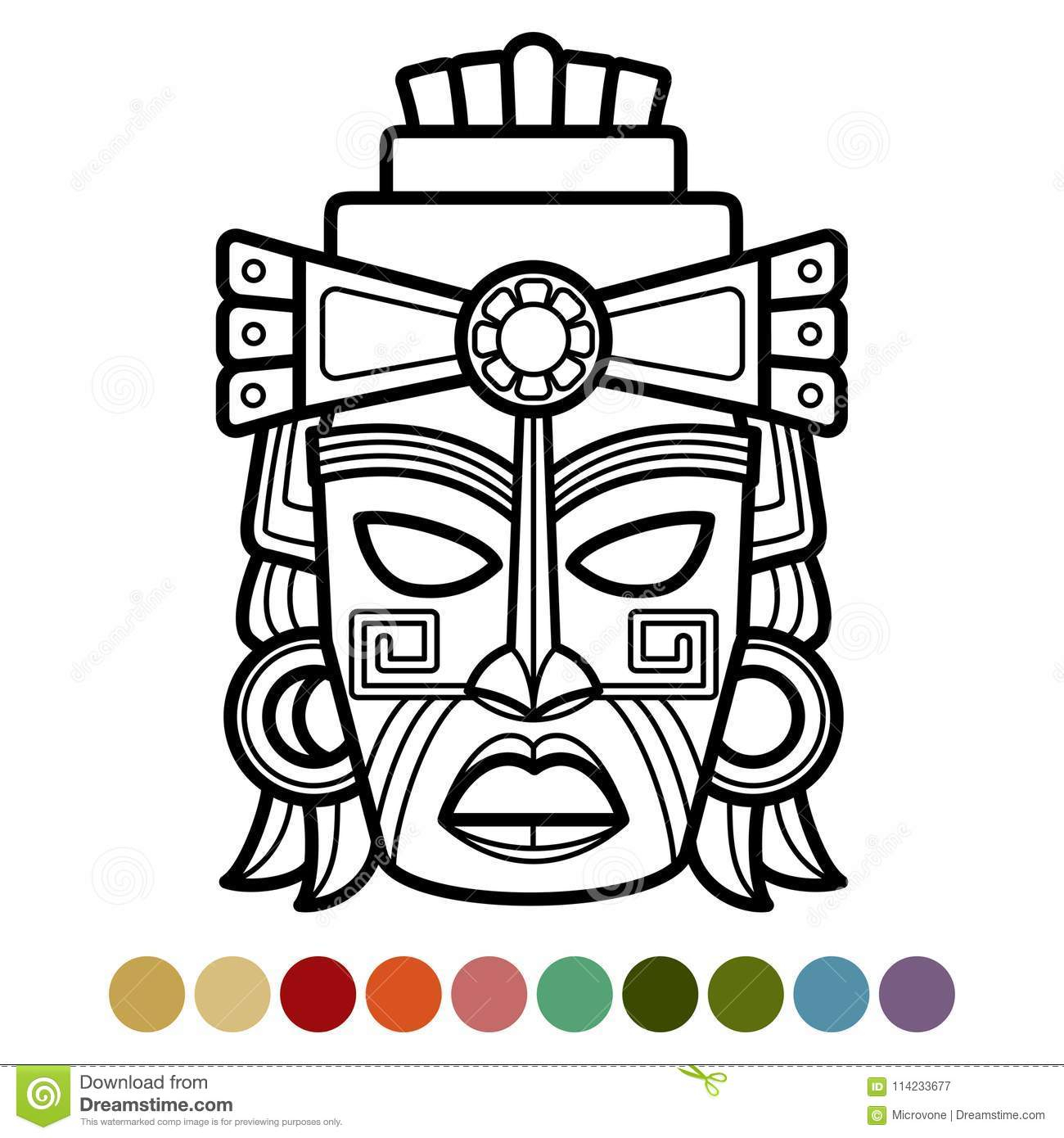 Aztec Mask Stock Illustrations – 2,975 Aztec Mask Stock with Aztec Masks Template