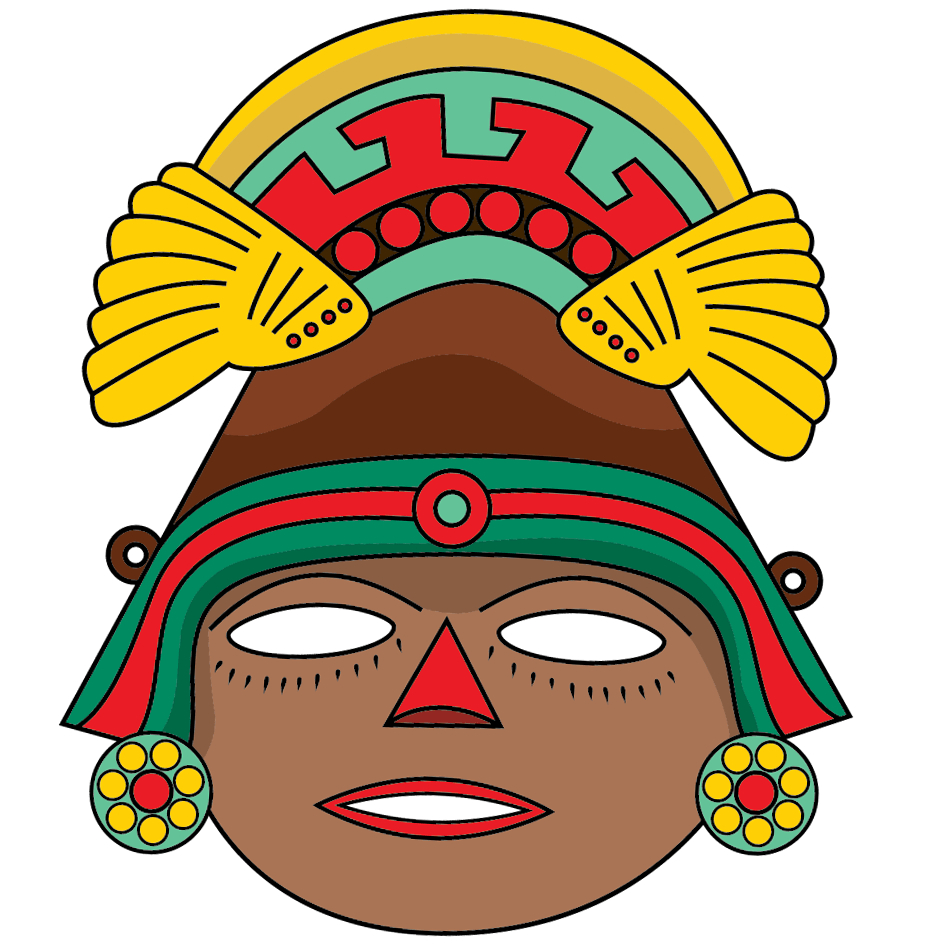 Aztec Mask Template | Free Printable Papercraft Templates pertaining to Aztec Mask Template