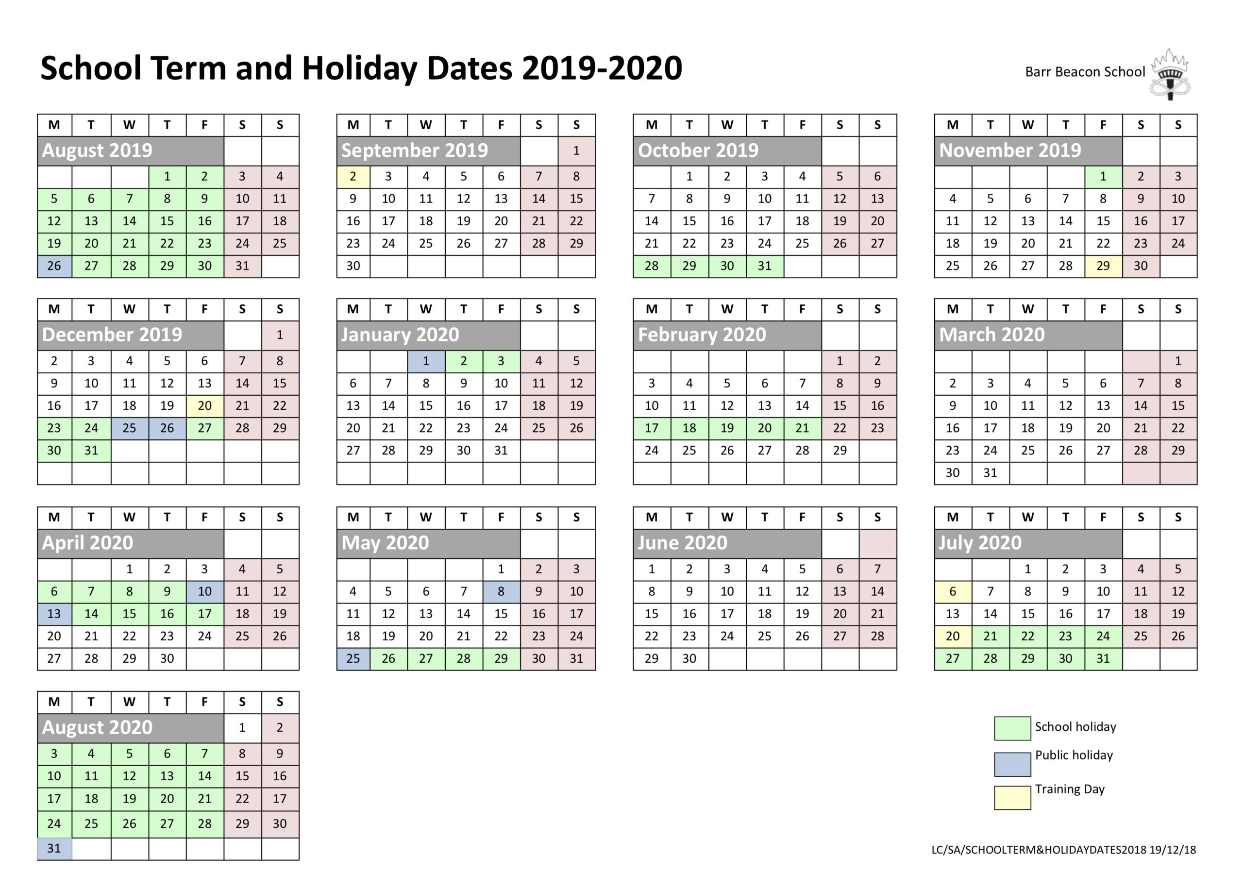 Barr Beacon Calendar | Calendar For Planning for Barr Beacon School Calendar