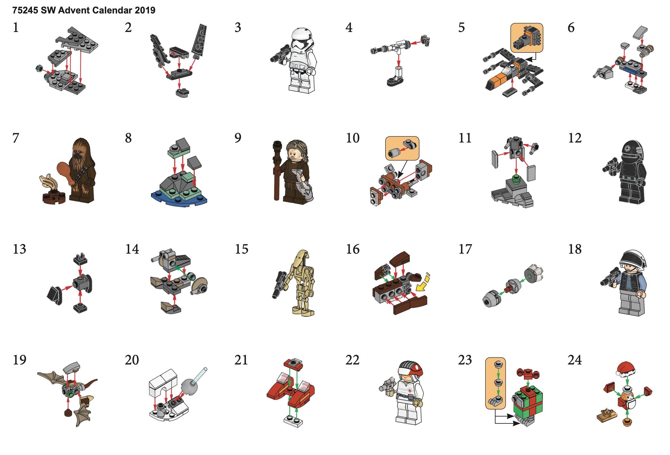 Baukästen & Konstruktion Lego Star Wars Advent Calendar in Lego Star Wars Advent Calendar Instructions