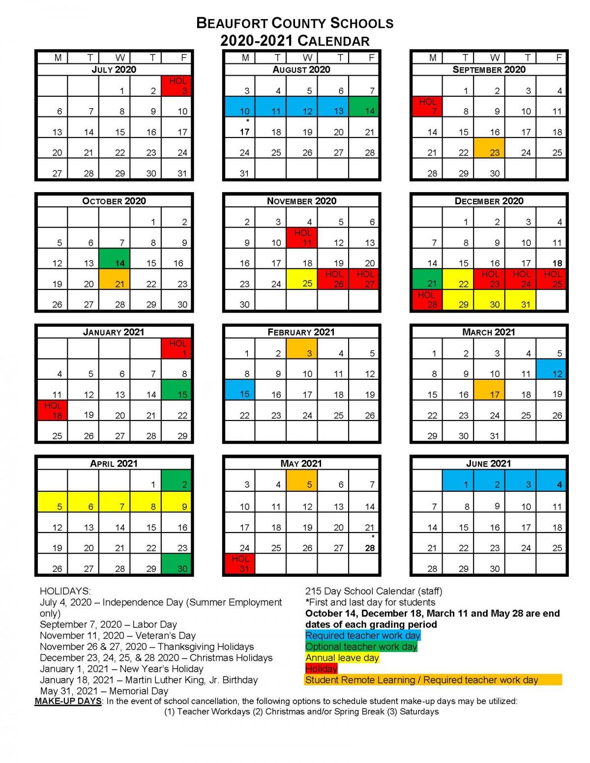 Bcs School Calendars | Beaufort County Schools pertaining to Augusta County School Calendar