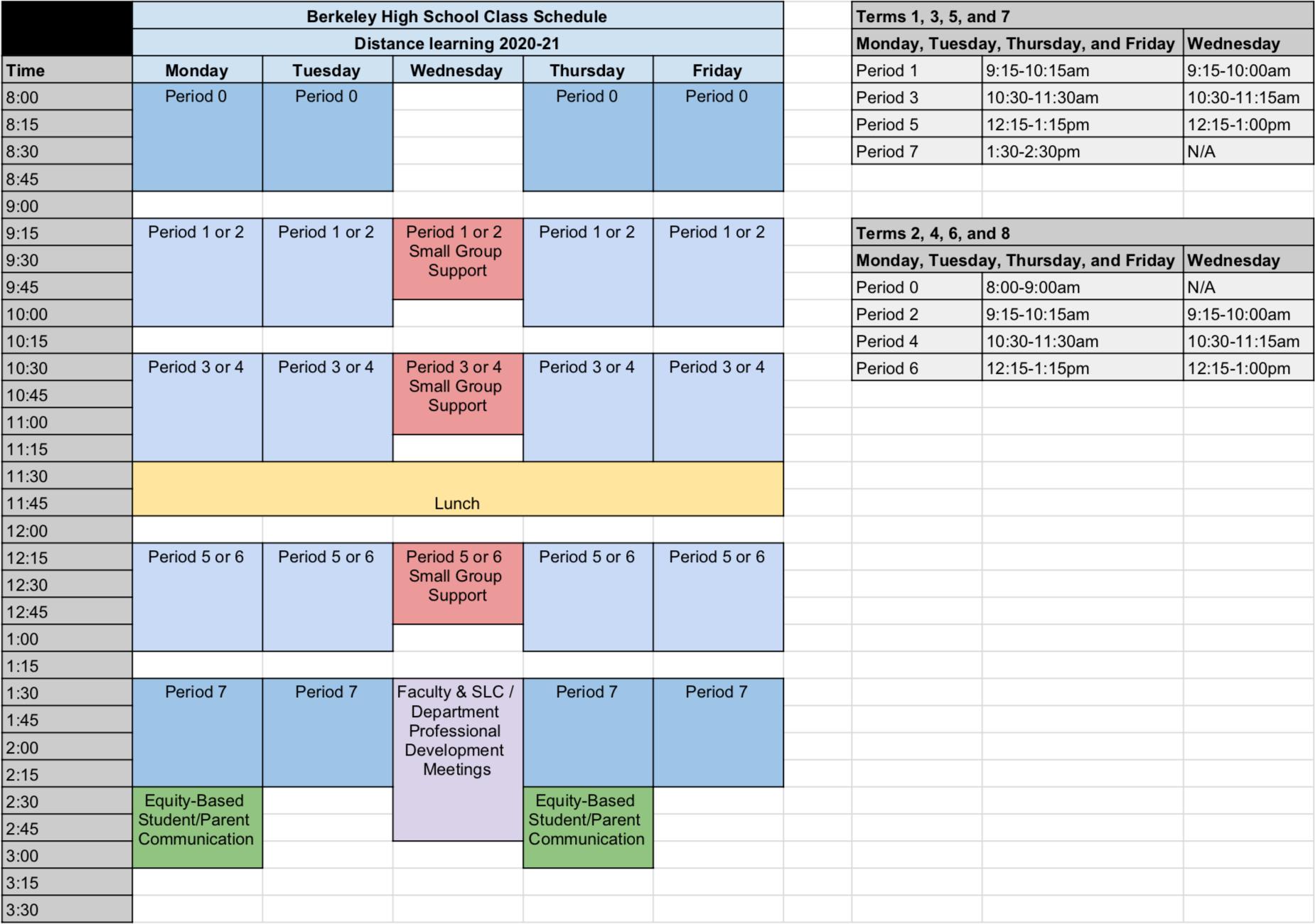 Berkeley High School for Berkeley Academic Calendar