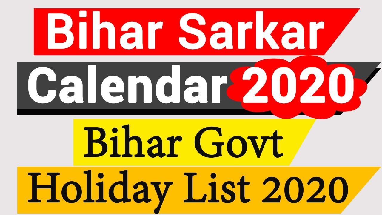 Bihar Sarkar Calendar 2020 | Bihar Govt Holiday List 2020 regarding Bihar Government Holiday Calendar