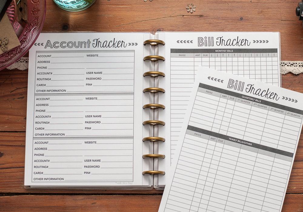 Bill Tracker Happy Planner Budget Inserts Happy Planner with Happy Planner Bill Pay Checklist