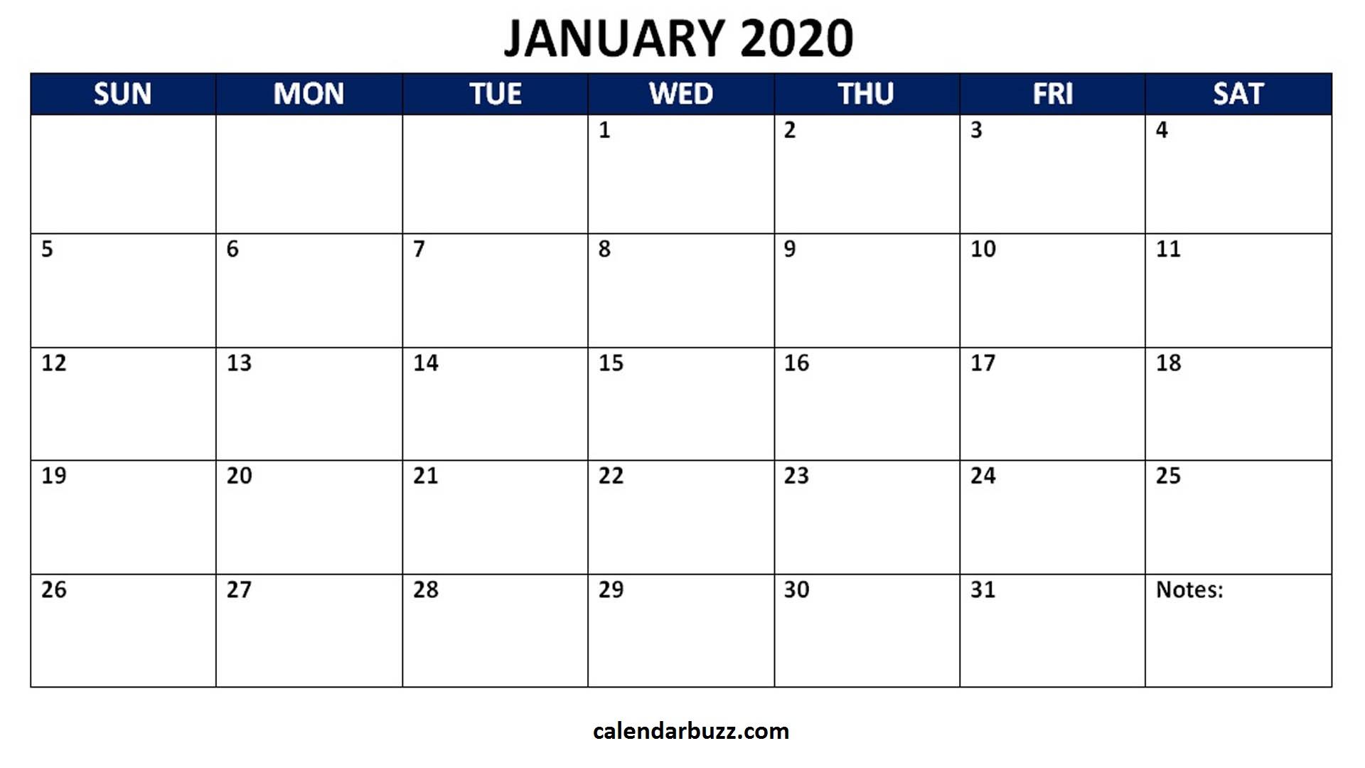 Blank 2020 Calendar Printable Monthly Word Templates in Microsoft Word Templates Calendar