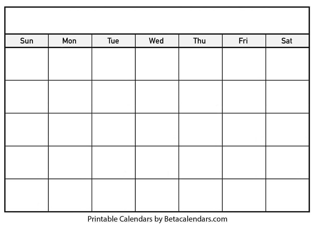 Blank Calendar 2021 | Free Blank Printable Templates in Empty Calendar Printable