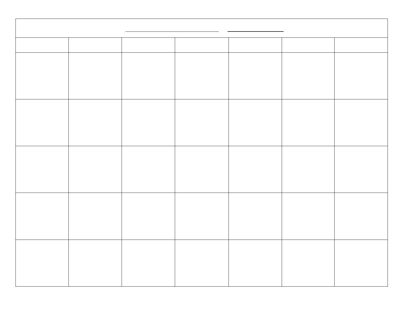 Blank Calendar Template Free Download within Monday-Friday Calendar Template