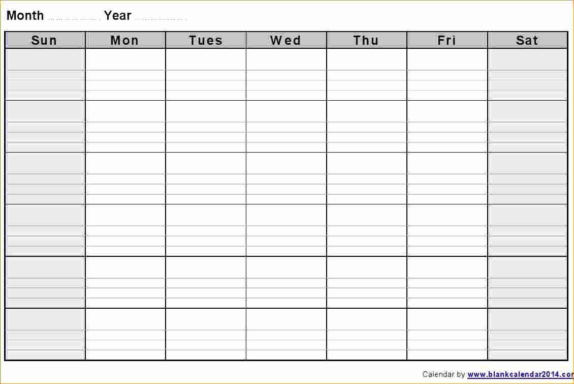 Blank Weekly Schedule Template Elegant 3 Blank Weekly for 3 Week Blank Calendar