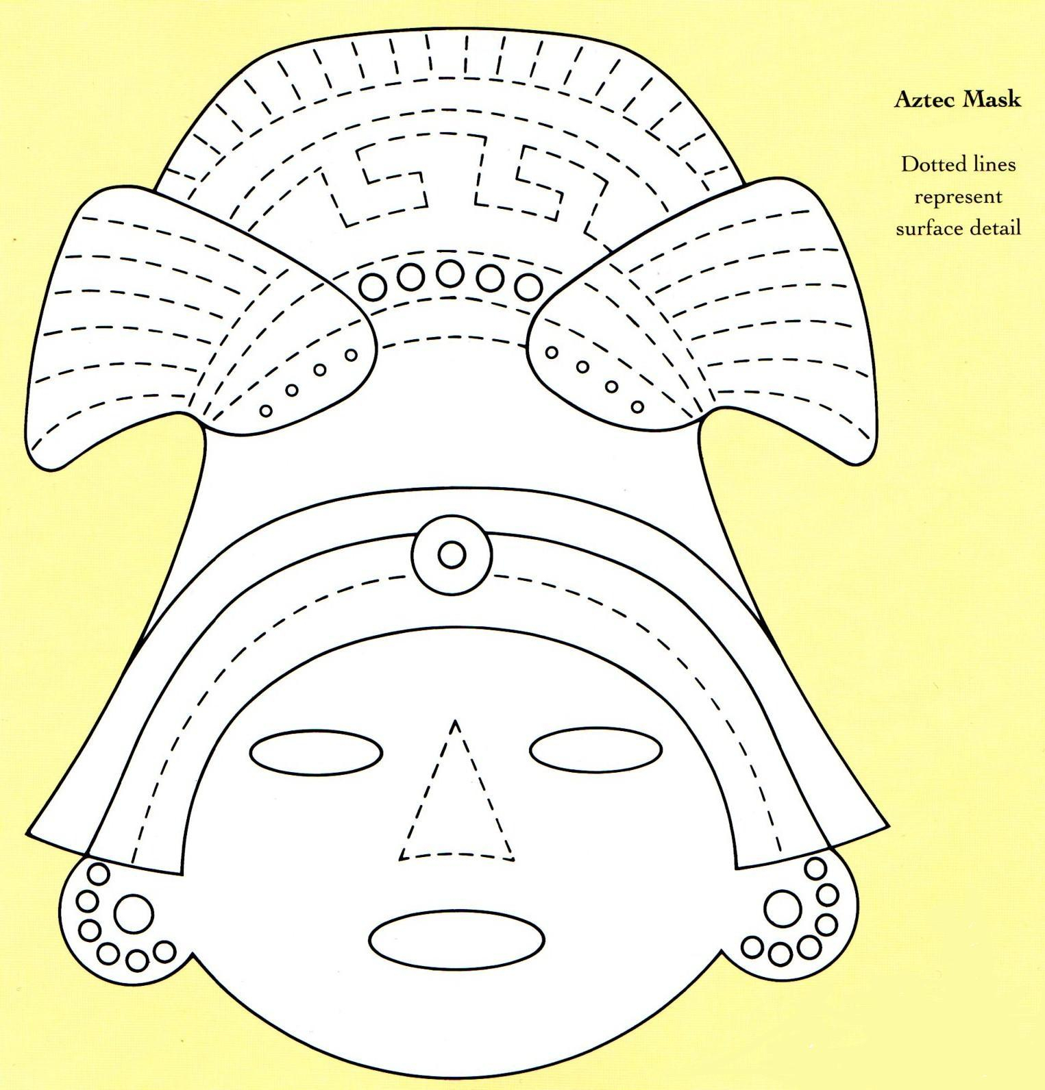 Bread Dough Aztec Mask | Country & Victorian Times in Aztec Masks Template