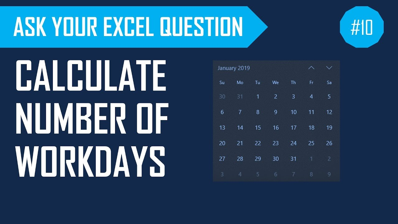 Calculate Number Of Workdays Between Two Dates Excluding Weekends & Holidays throughout Countdown Excluding Weekends
