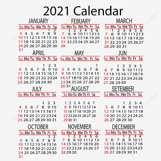 Calendar 2021 Yearly Vector Design, 2021, Calendar, Year pertaining to 2021 Calendar Vector Free