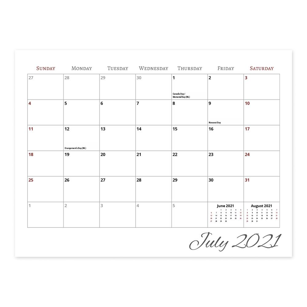 Calendar  8.5X11 Center Spiral inside Shoppers Photo Calendar