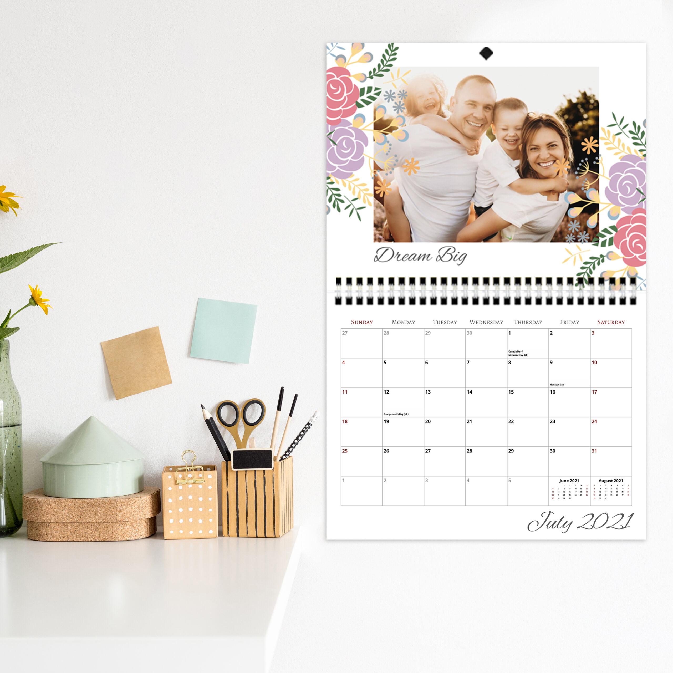 Calendar  8.5X11 Center Spiral regarding Shoppers Photo Calendar