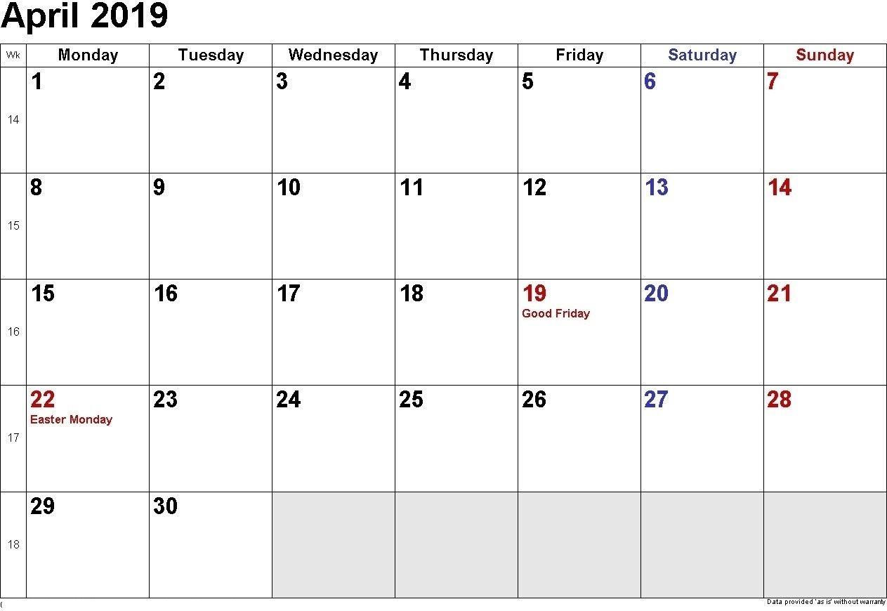 Calendar April 2019 Australia Michel Zbinden En With throughout Calendars Michel Zbinden