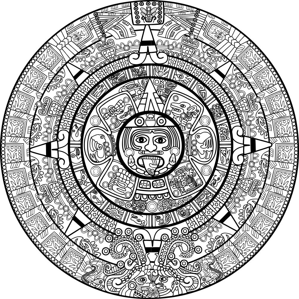 Calendar Mayan Free Vector Cdr Download  3Axis.co with regard to Aztec Calendar Template