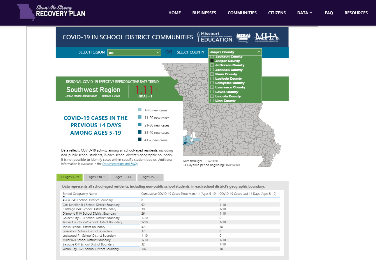 Carthage Weighs In On Missouri Covid19 Dashboard For intended for Carthage Mo School Calendar