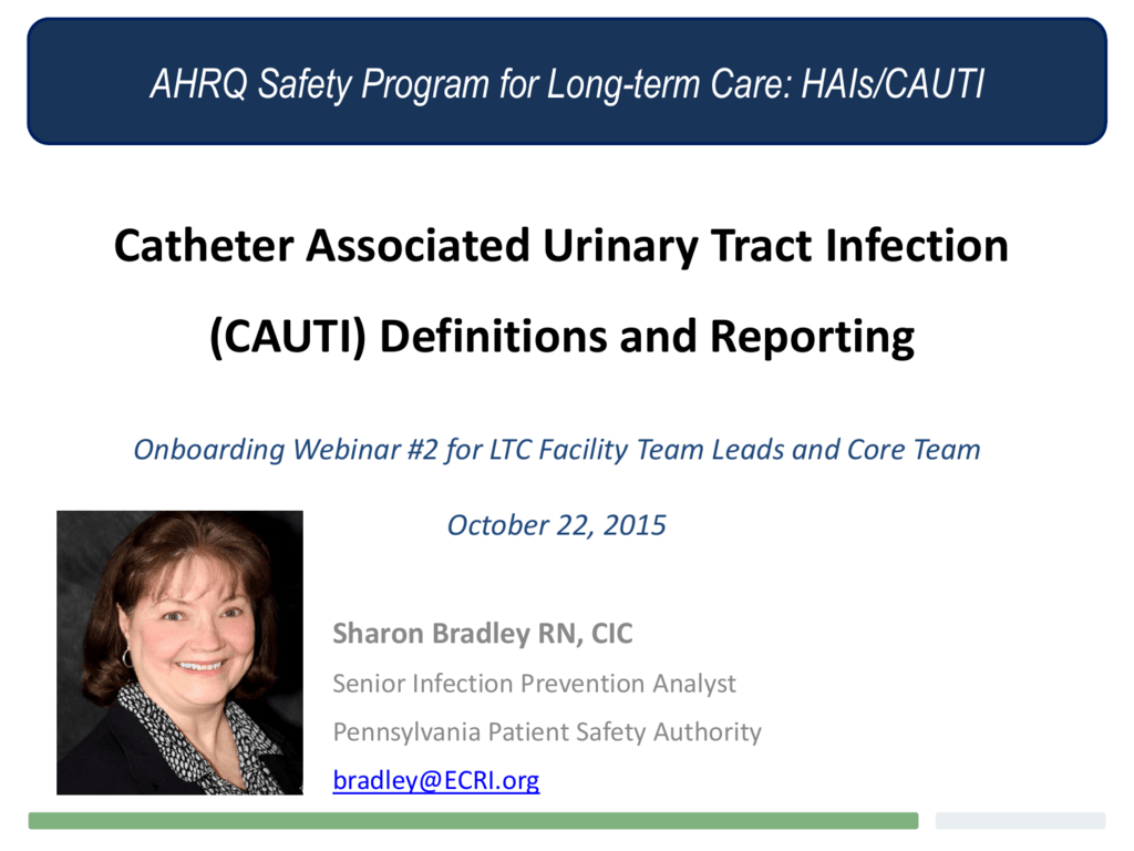 Catheterassociated Urinary Tract Infection (Cauti) regarding Mcgeer Criteria Worksheet