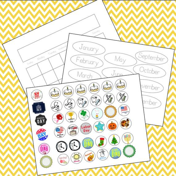 Children'S Learning Calendar With Holiday Stickers in Holiday Stickers For Calendars