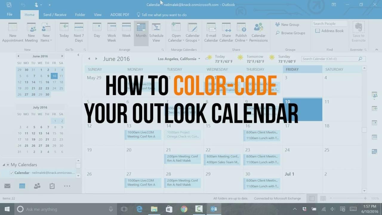 Colorcode Your Outlook Calendar With Conditional Formatting with regard to Conditional Formatting Outlook Calendar
