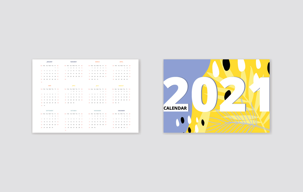 Colorful Pocket Calendar 2021  Vector For Free in 2021 Calendar Vector Free