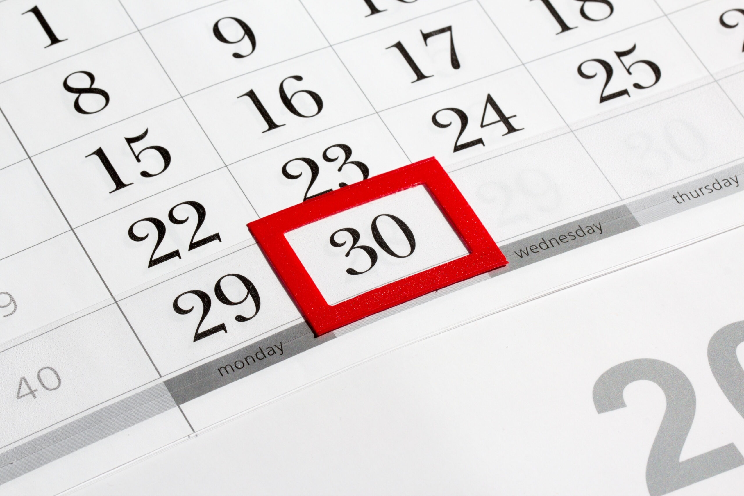 Countdown Without Weekends | Calendar For Planning with Countdown Excluding Weekends