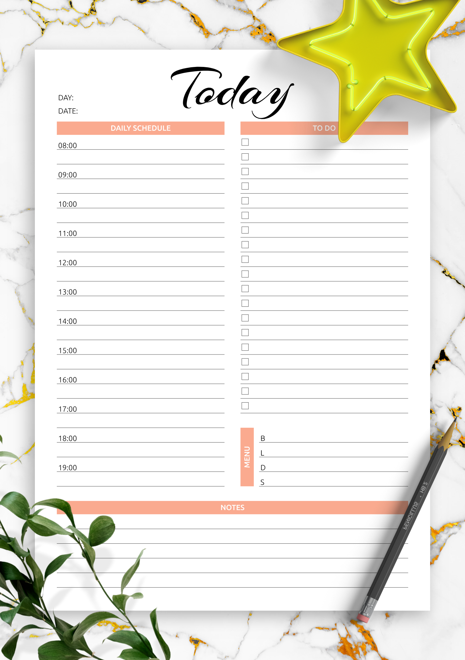 Download Printable Today Hourly Planner Pdf in Free Printable Hourly Calendar